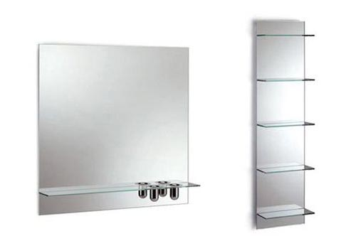 La bottega del vetraio - Specchio con mensola per bagno ...